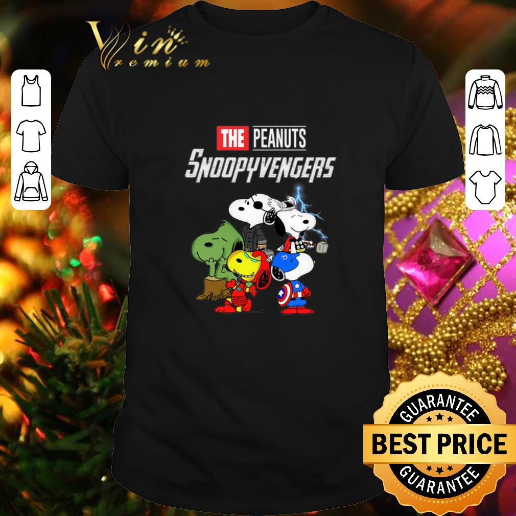 - The Peanuts Snoopyvengers Avengers Endgame MCU shirt