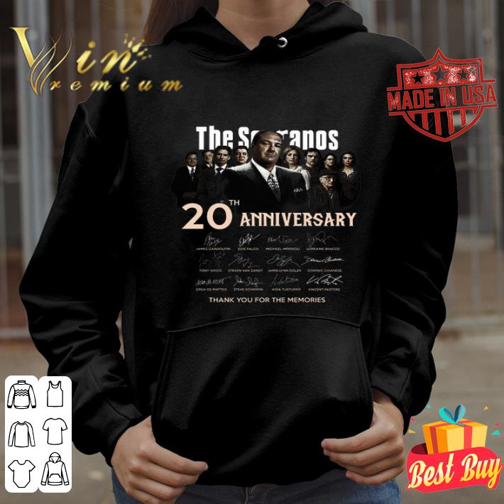 The Sopranos 20th anniversary signed thank you for the memories shirt