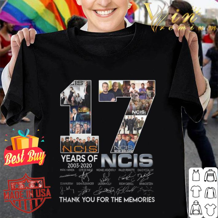 17 years of 2003-2020 NCIS signatures shirt