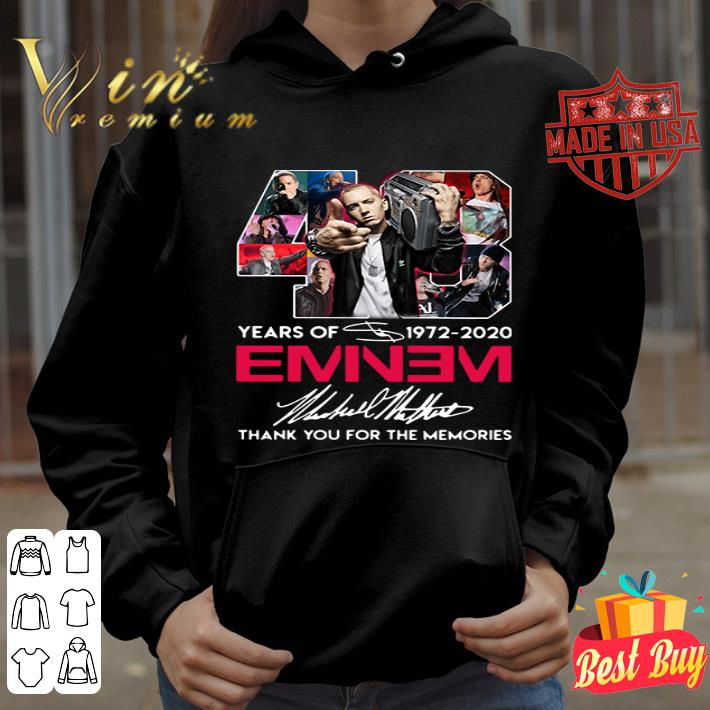 48 years of 1972-2020 Eminem signatures shirt
