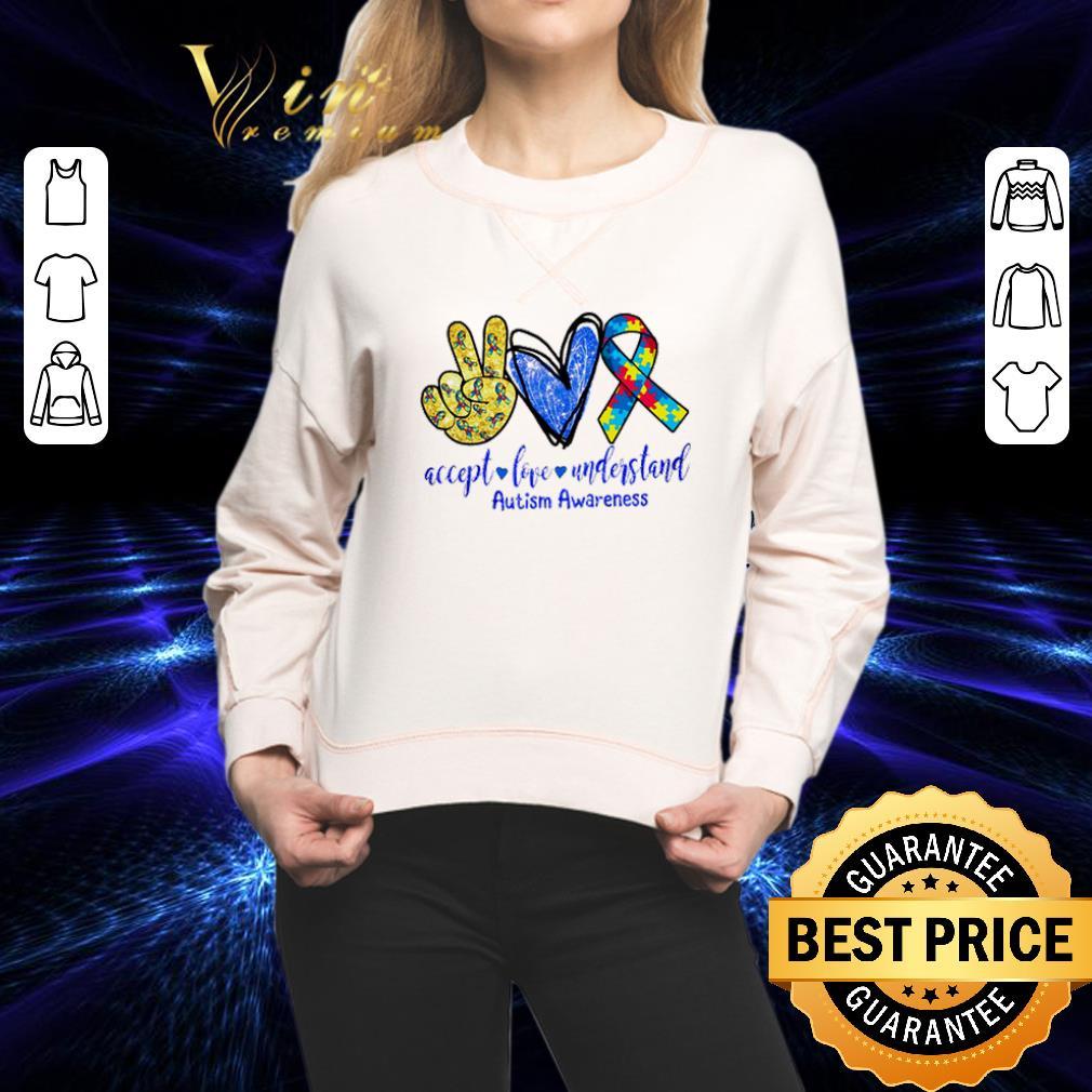 - Accept love understand Autism awareness shirt