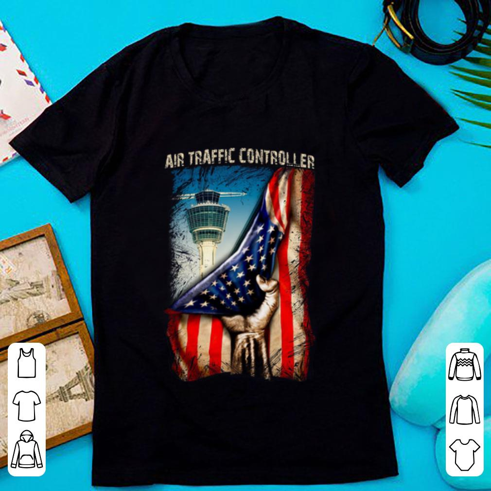 - Air Traffic Controller American Flag Shirt