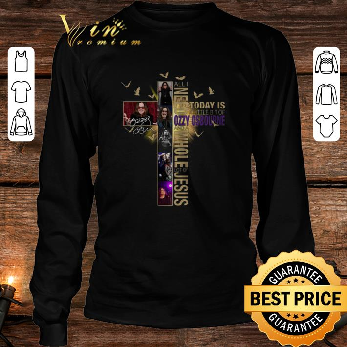All I need today is a little bit of Ozzy Osbourne Jesus signature shirt 3