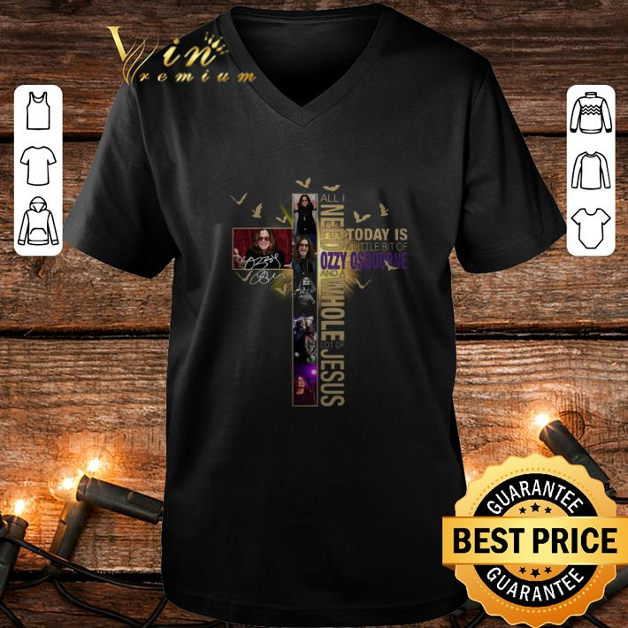 All I need today is a little bit of Ozzy Osbourne Jesus signature shirt