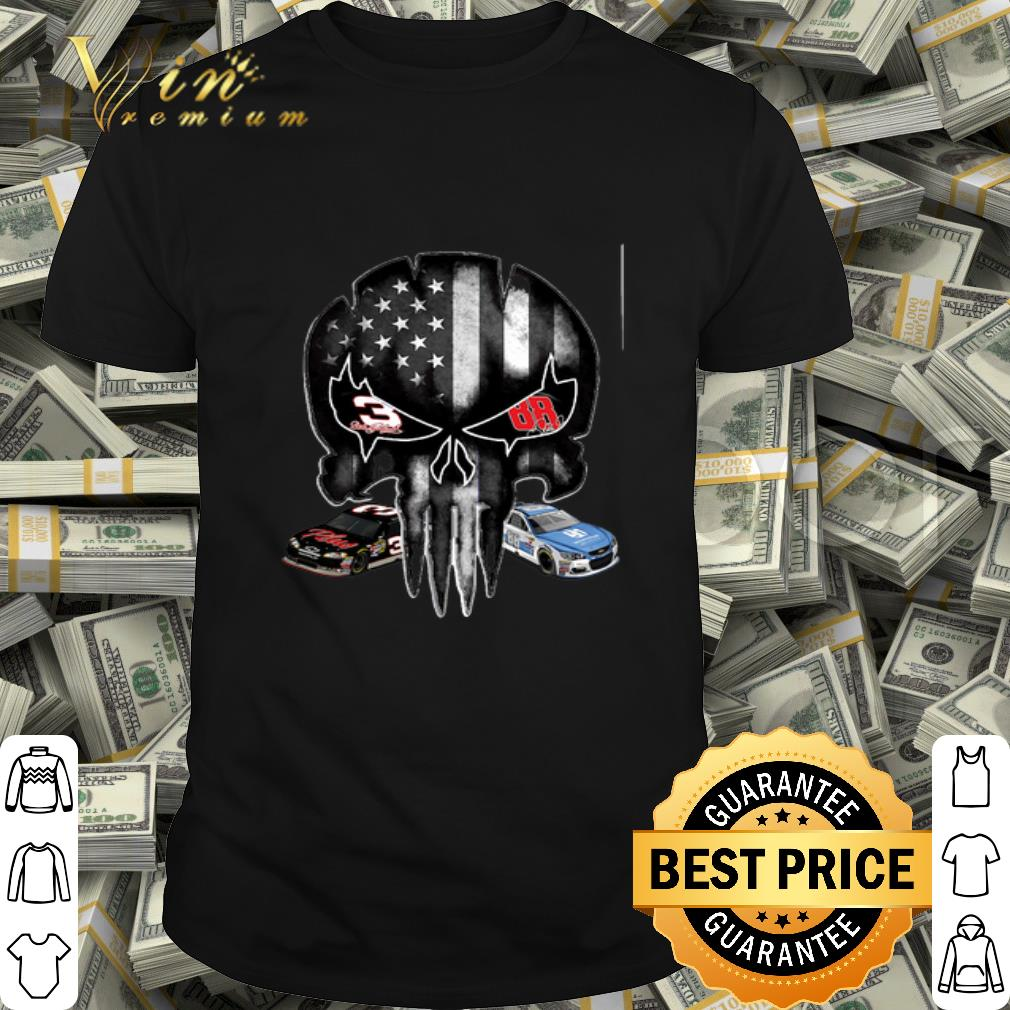 American flag skull Legends 3 Dale Earnhardt Jr 88 signature shirt