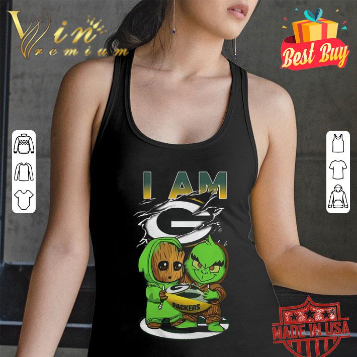 Baby Groot And Grinch I Am Green Bay Packers Logo shirt
