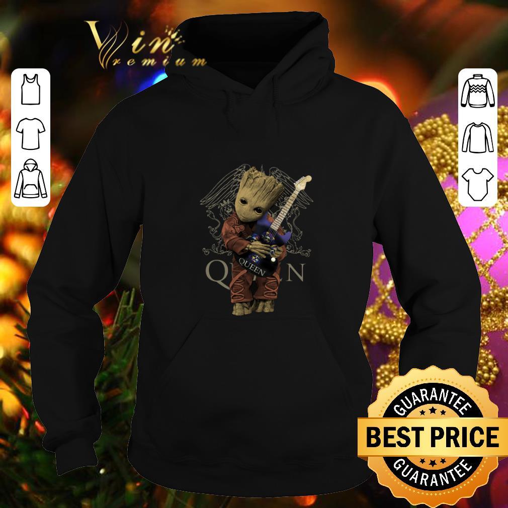 Baby Groot Hug Guitar Queen Marvel Shirt Hoodie Sweater