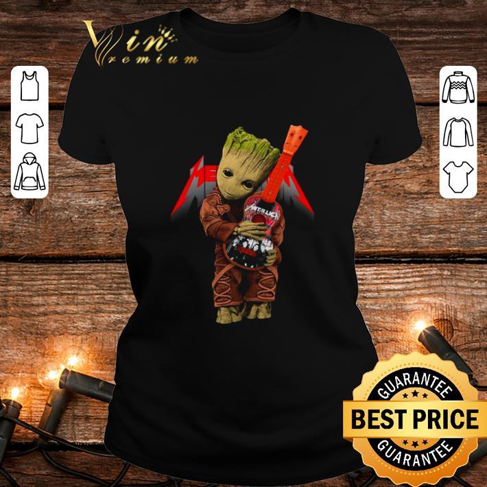 - Baby Groot hug logo Metallica Guitarist shirt