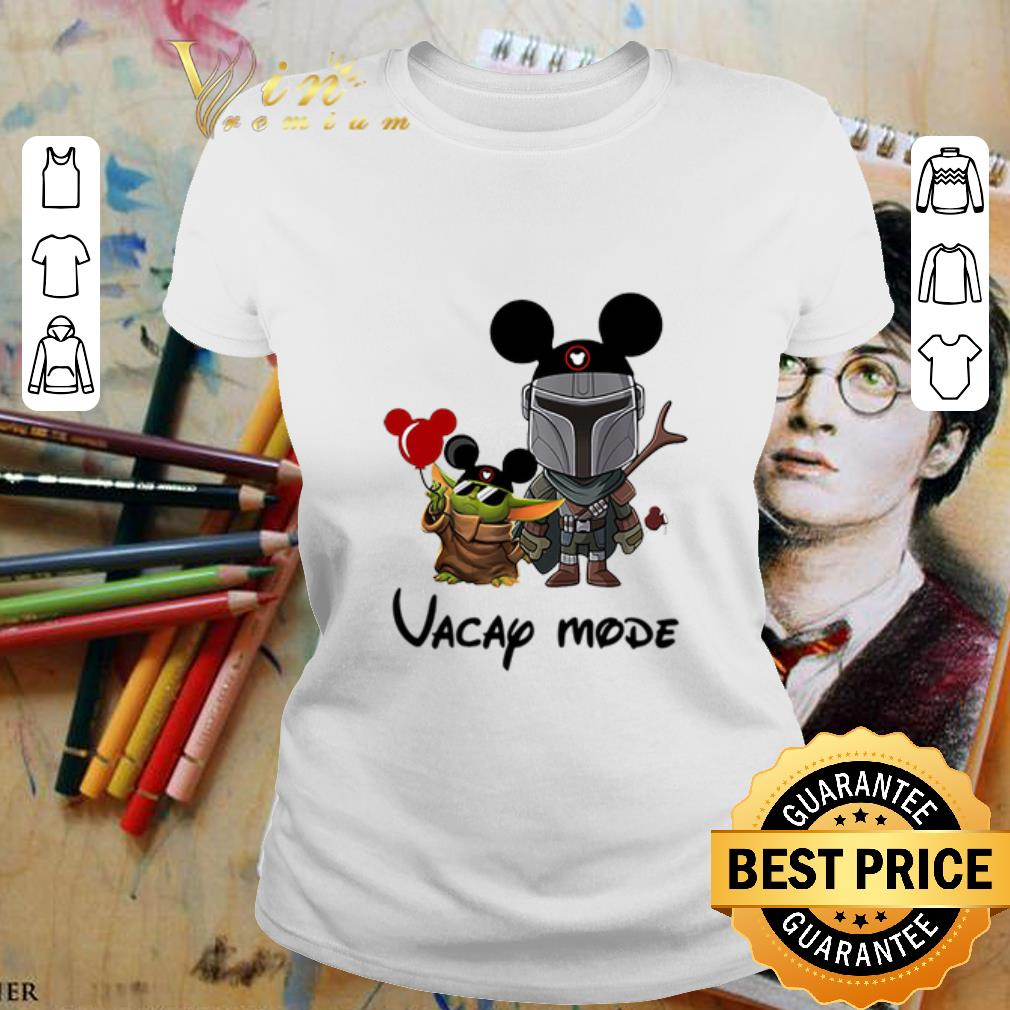- Baby Yoda and The Mandalorian vacay mode Disney shirt