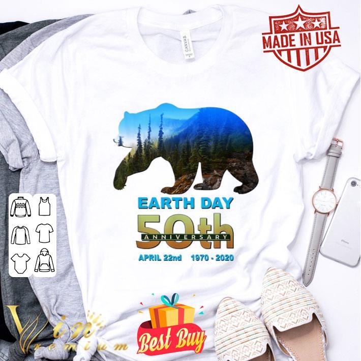 Bear Earth Day 50th anniversary April 22nd 1970 2020 shirt ...
