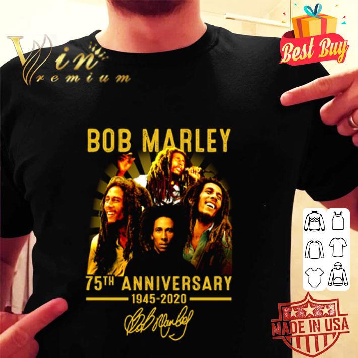 Bob Marley 75th anniversary 1945 2020 signature shirt