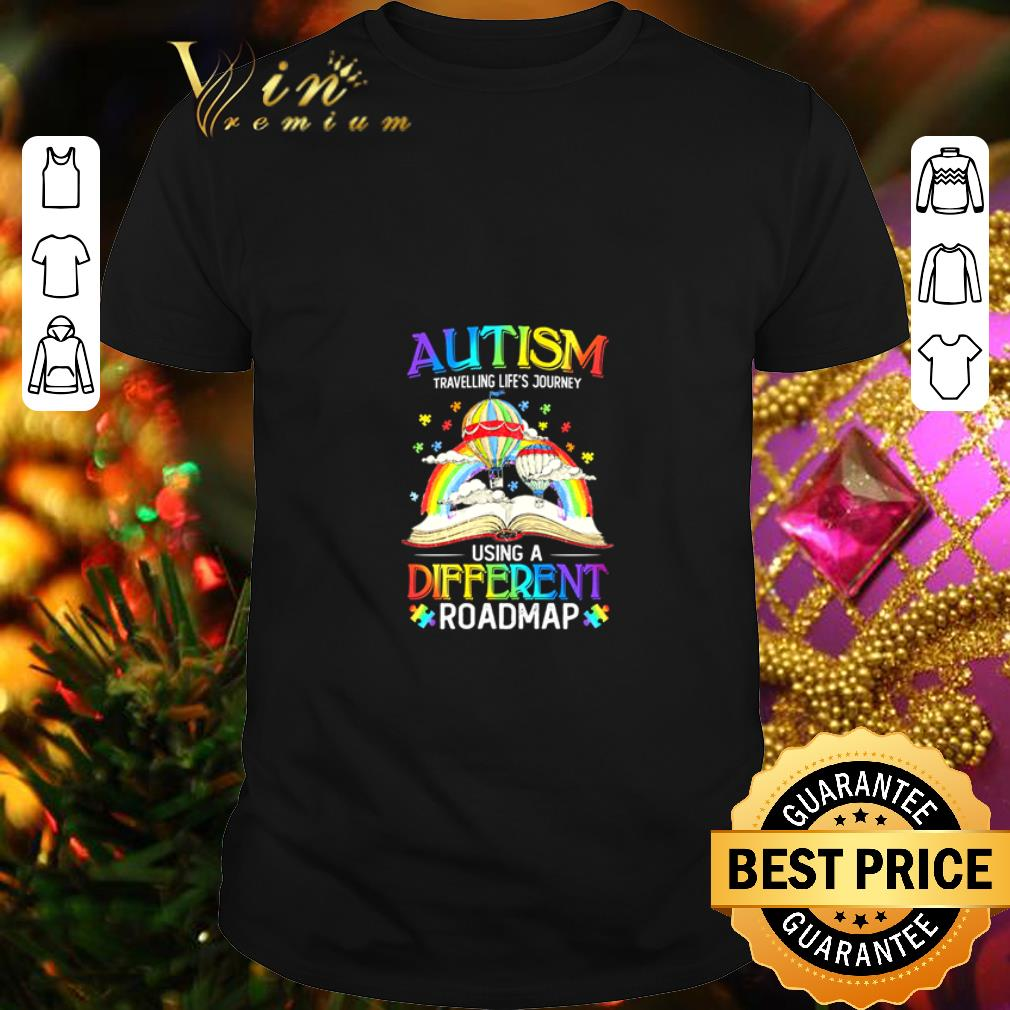 - Book Autism travelling life's journey using a different roadmap shirt