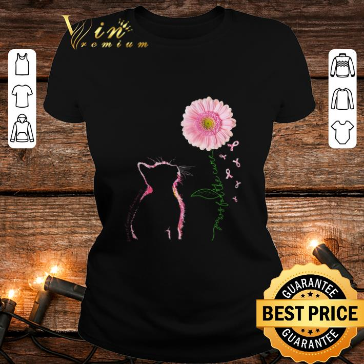 - Cat Breast Cancer Awareness paws for the cure shirt