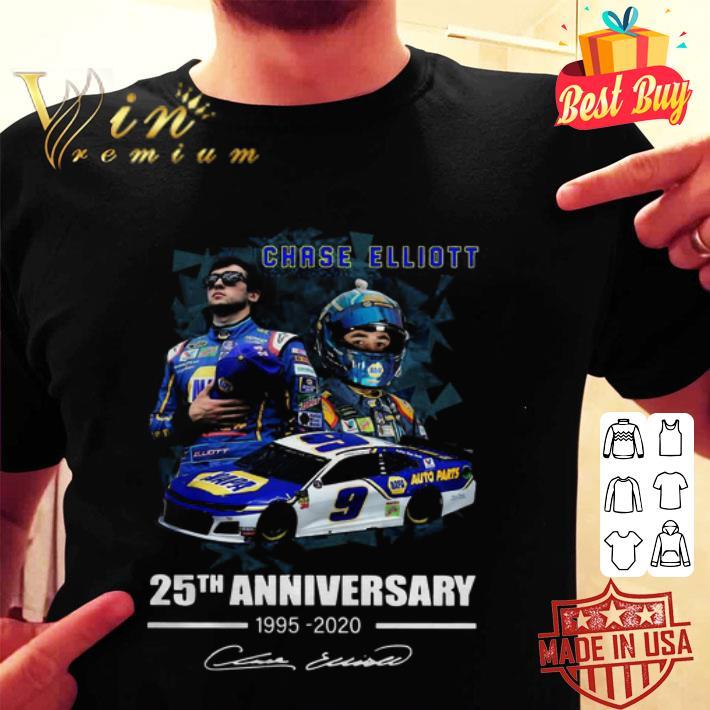 Chase Elliott 25th Anniversary 1995-2020 Signature shirt