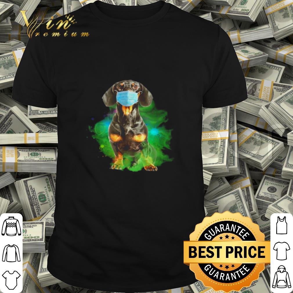 - Dachshund face mask Corona shirt