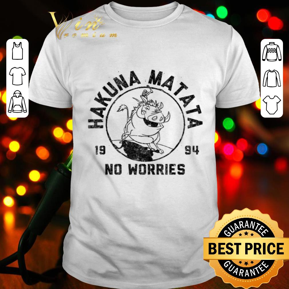 - Disney Lion King 1994 Hakuna Matata Logo Graphic shirt