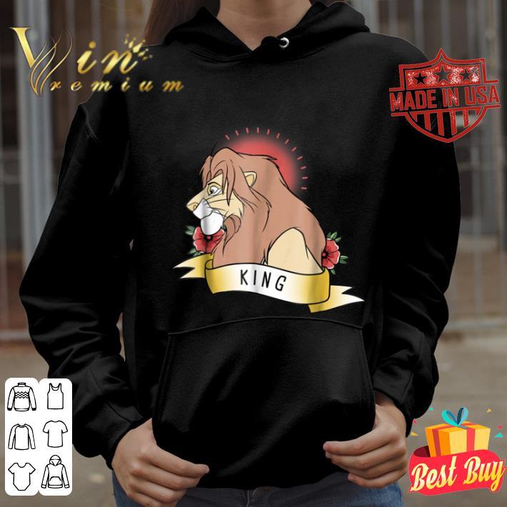 Disney Lion King Simba King Tattoo Red Graphic shirt
