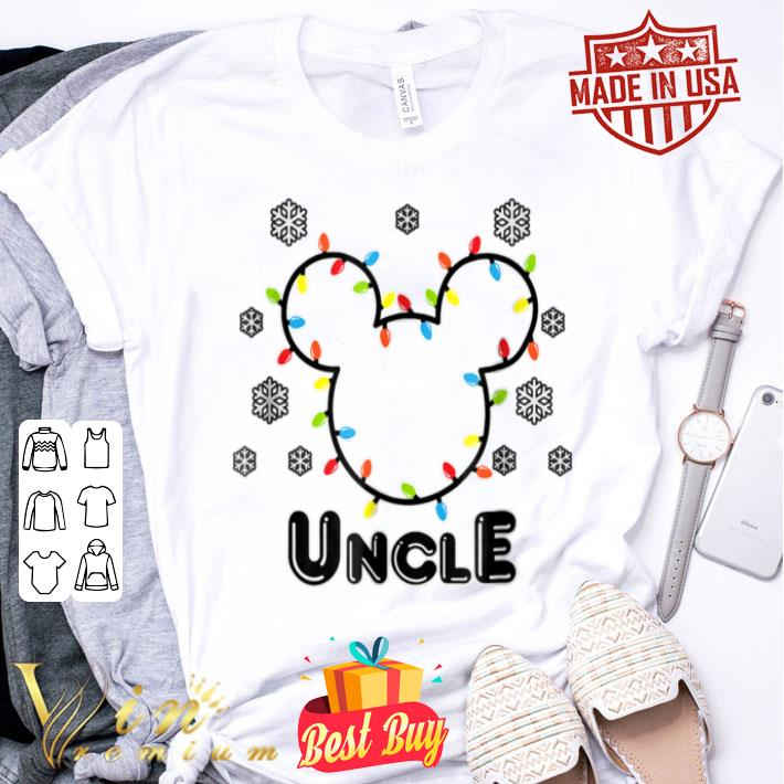 - Disney Mickey Christmas Uncle Standard shirt