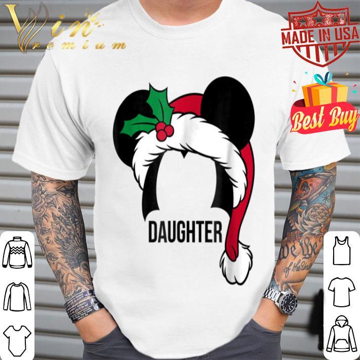 - Disney Mickey Mouse Ears Santa Hat DAUGHTER Holiday shirt