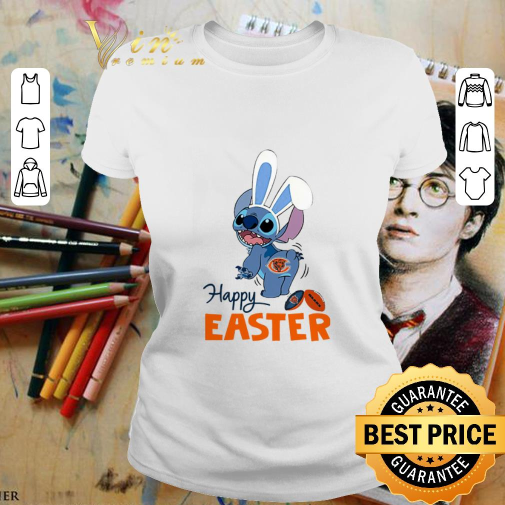 - Disney Stitch Chicago Bears Logo Happy Easter shirt