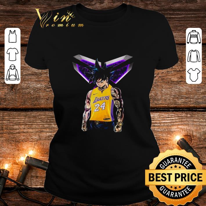 - Dragon ball Z Son Goku mashup Kobe Bryant Los Angeles Lakers shirt