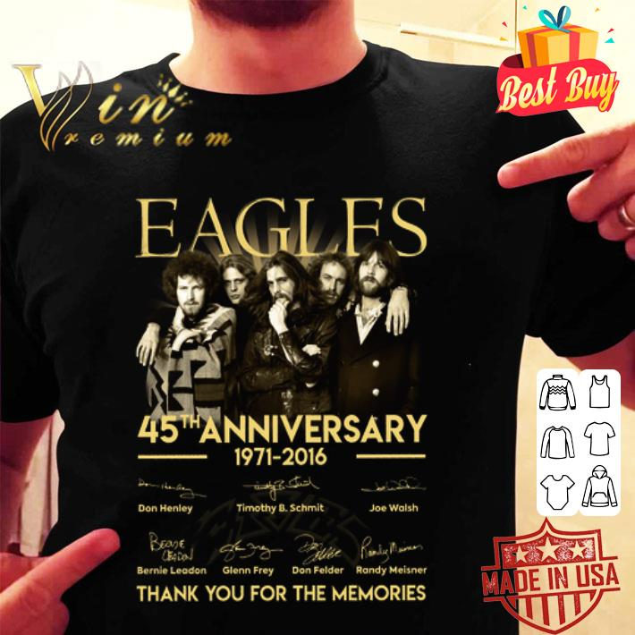 Eagles 45th anniversary 1971-2016 signatures shirt