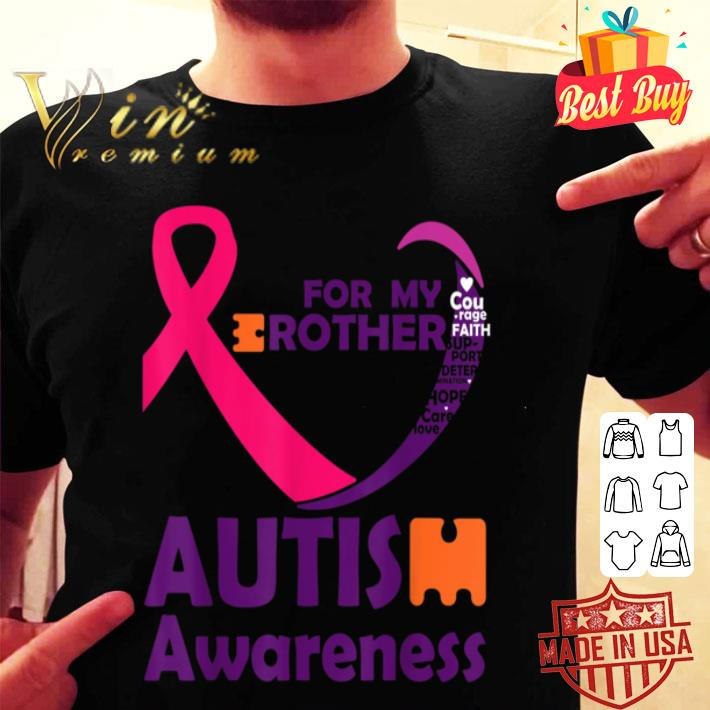 - For My Brother Love Puzzle Ribbon Cool Autism Awareness Gift B085GKFST2 shirt