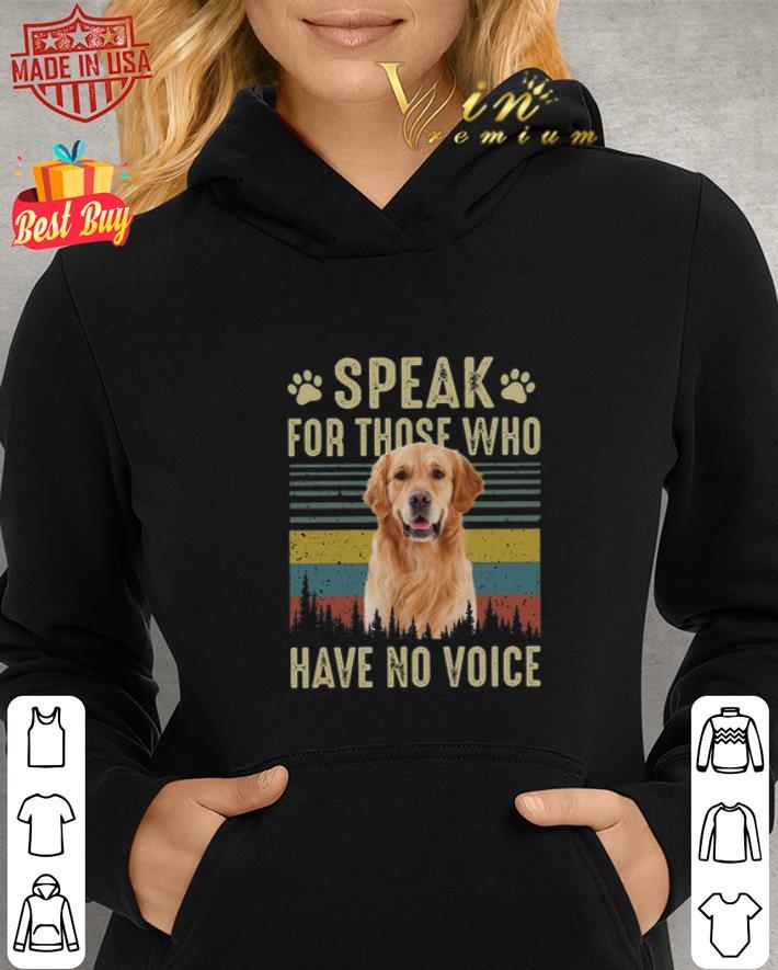 - Golden Retriever speak for those who have no voice vintage shirt