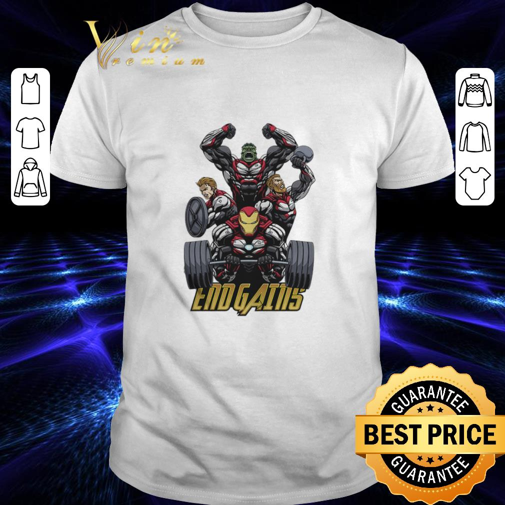 - Gym Hulk Captain America Thor Iron Man Endgains shirt