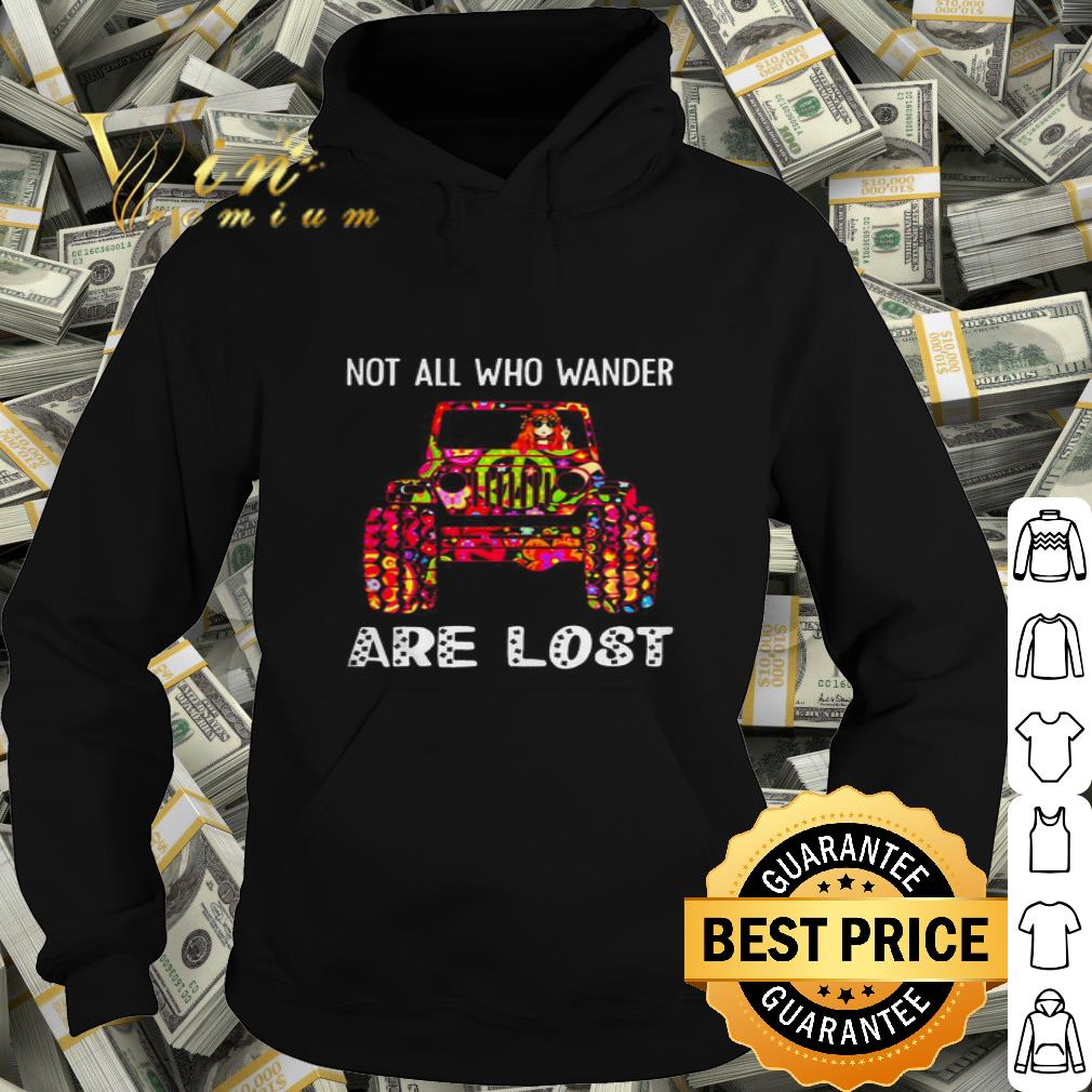 Hippie Jeep not all who wander are lost shirt