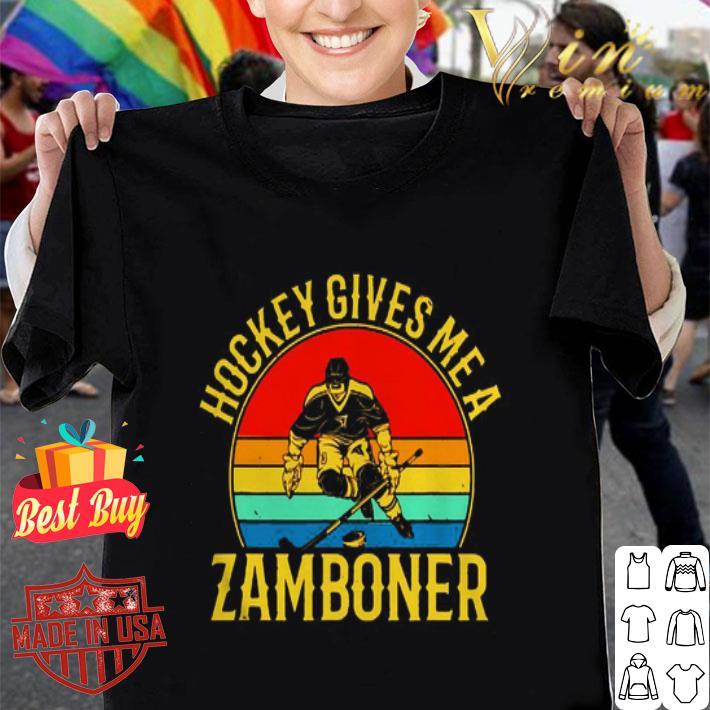 Hockey gives me a zamboner vintage shirt
