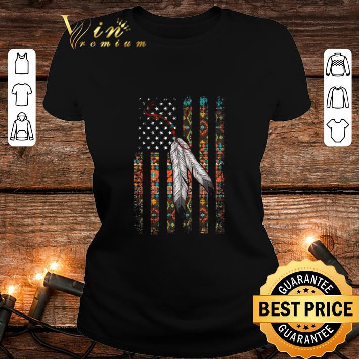 Indian Chief Native American Flag USA shirt 2