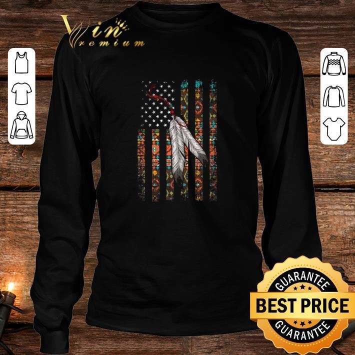 Indian Chief Native American Flag USA shirt 3