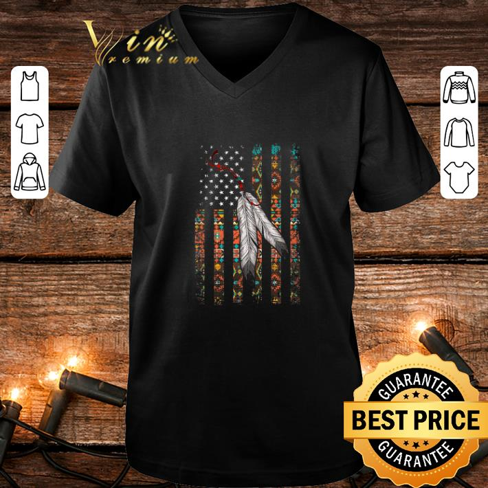 - Indian Chief Native American Flag USA shirt