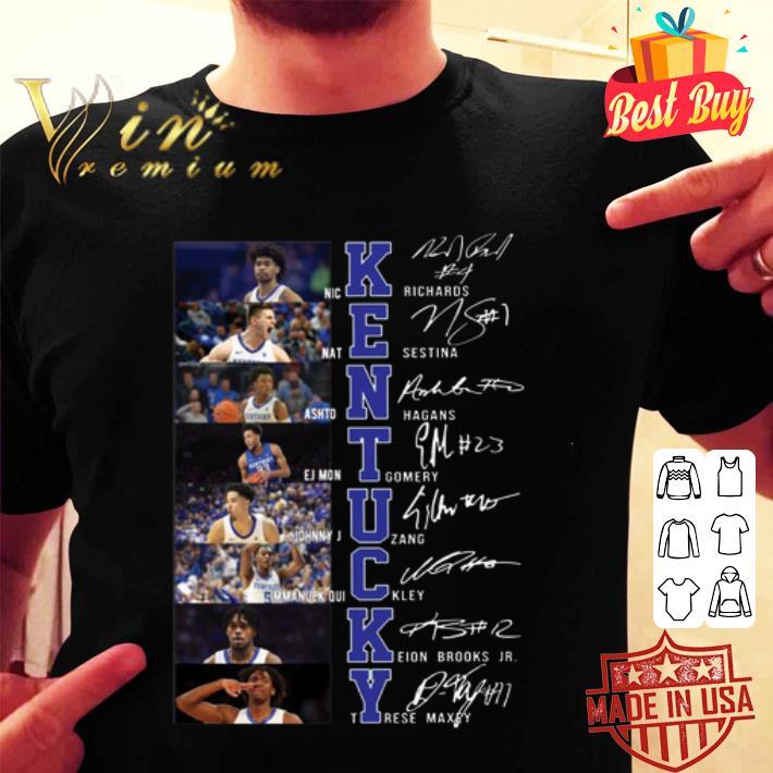 Kentucky Wildcats all player signatures shirt