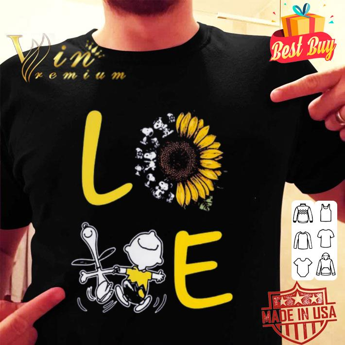 - Love Sunflower Snoopy And Charlie Brown shirt