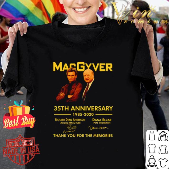MacGyver 35th anniversary 1985 2020 signatures shirt