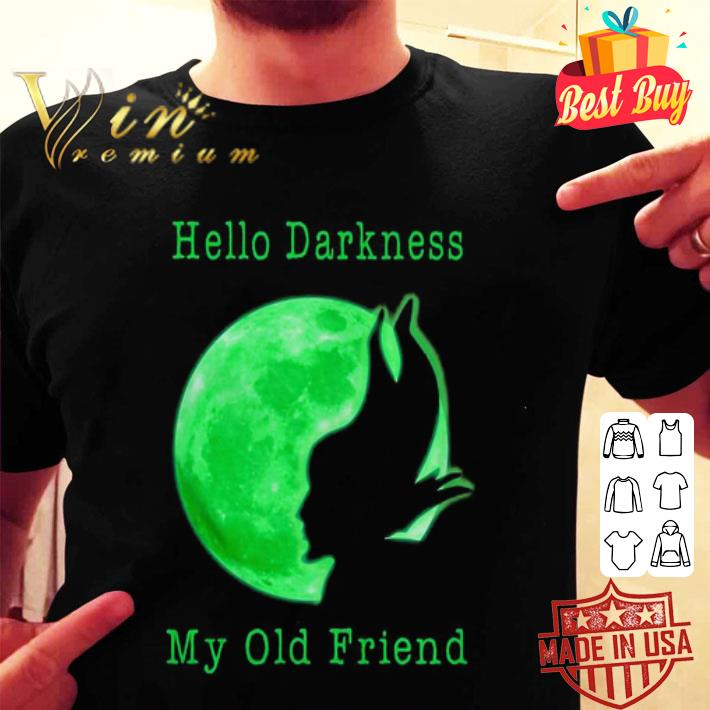 - Maleficent and moon hello darkness my old friend shirt