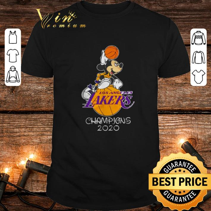 - Mickey Mouse Los Angeles Lakers champions 2020 shirt