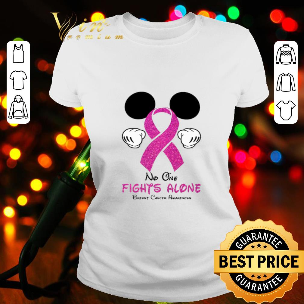 - Mickey Mouse No One Fights Alone Breast Cancer Awareness shirt