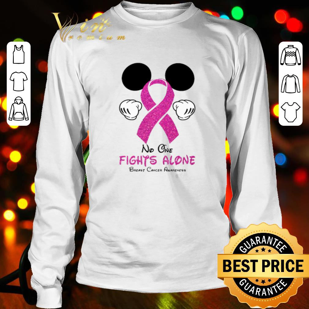 Mickey Mouse No One Fights Alone Breast Cancer Awareness shirt