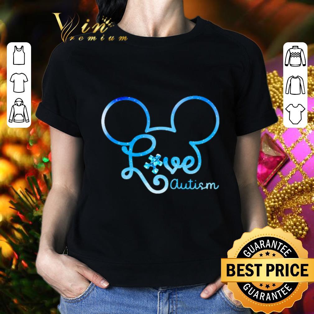- Mickey head love autism awareness shirt