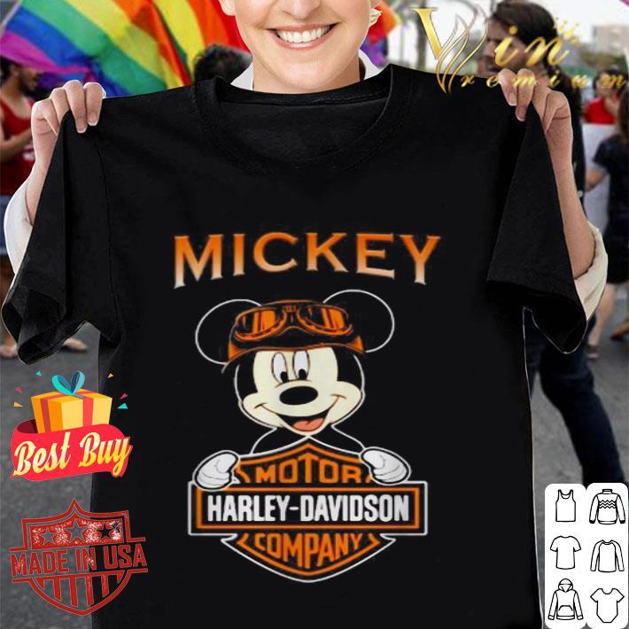 Mickey mouse mashup motor Harley-Davidson company shirt