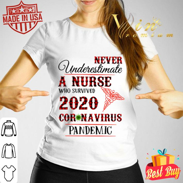 Never underestimate a nurse who survived 2020 Coronavirus pandemic shirt