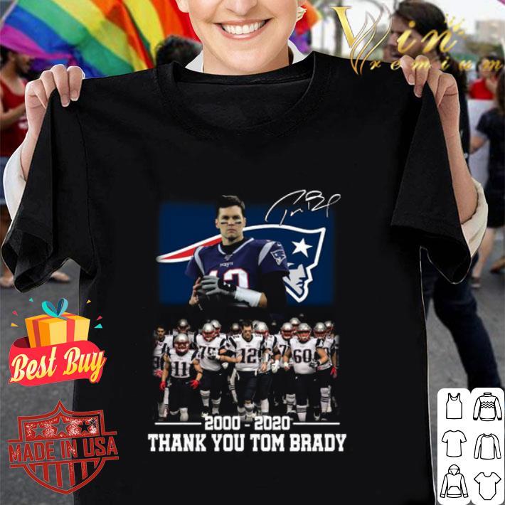 - New England Patriots 2000-2020 thank you Tom Brady shirt