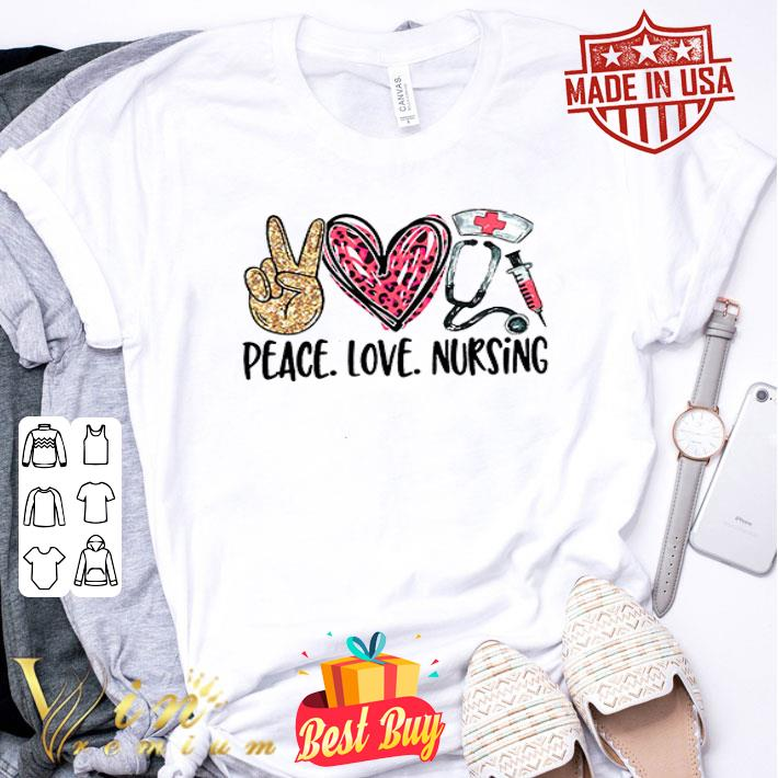 Peace love nursing diamond shirt