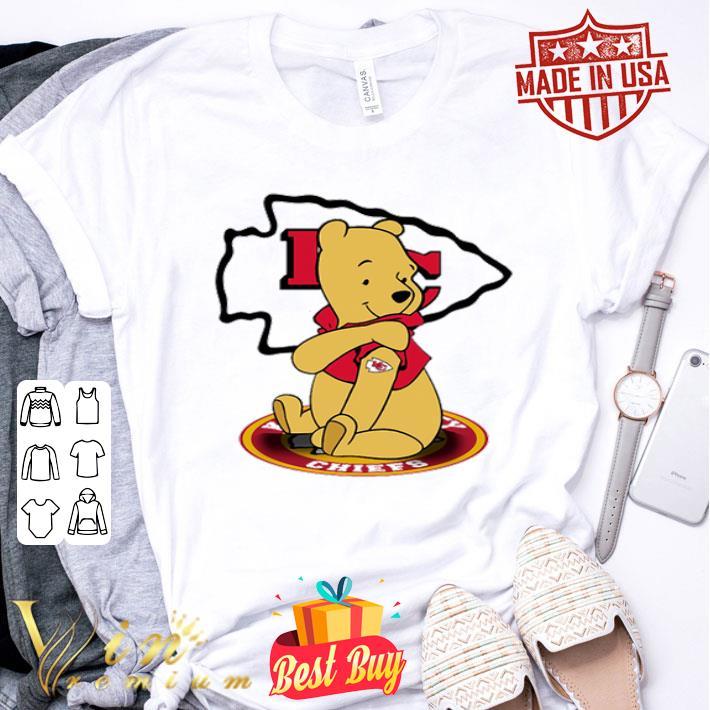 - Pooh tattoos Kansas City Chiefs logo shirt