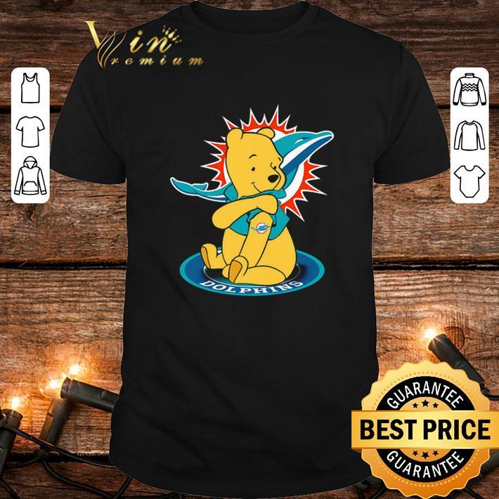 - Pooh tattoos Miami Dolphins logo shirt