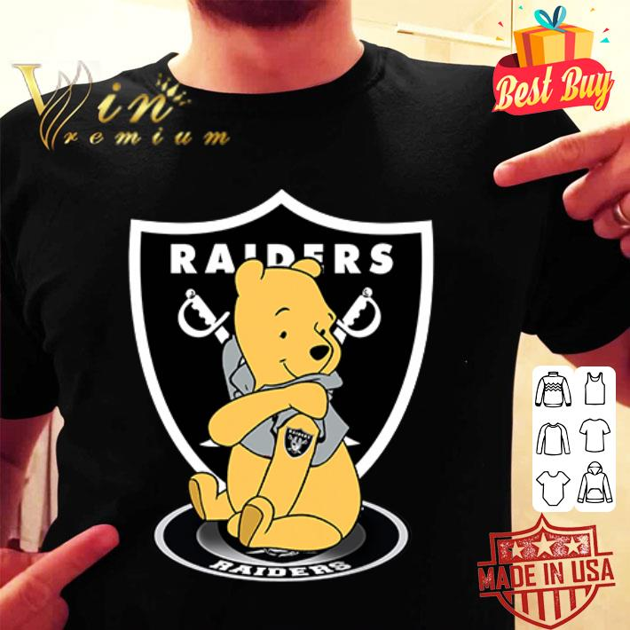 - Pooh tattoos Oakland Raiders logo shirt