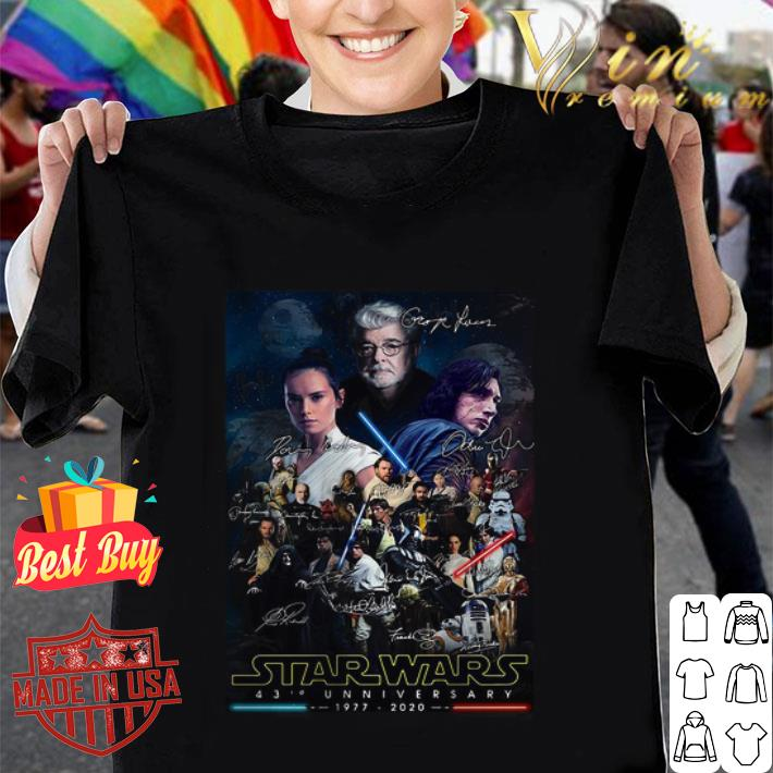 - Poster Star Wars 43rd Anniversary 1977-2020 Signatures shirt